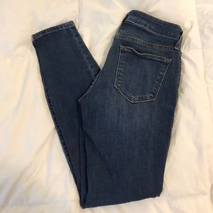 Dark wash skinny jeans from the Gap
